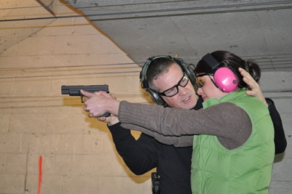Chris works with a shooter